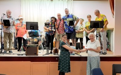 Lonsdale Road Church holds ukelele concert for Scoo-B-Doo
